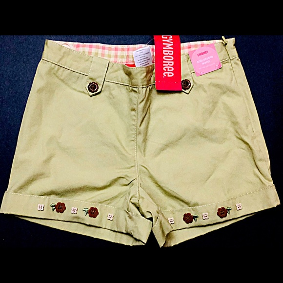 NWT Gymboree Girls Shorts Summer Pink and white Adjustable waist 5T,5,6,7
